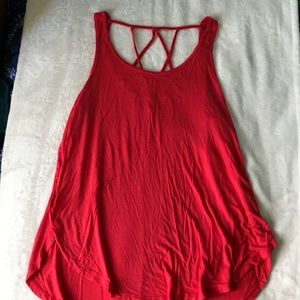Hollister Red Cross Back Tank Top